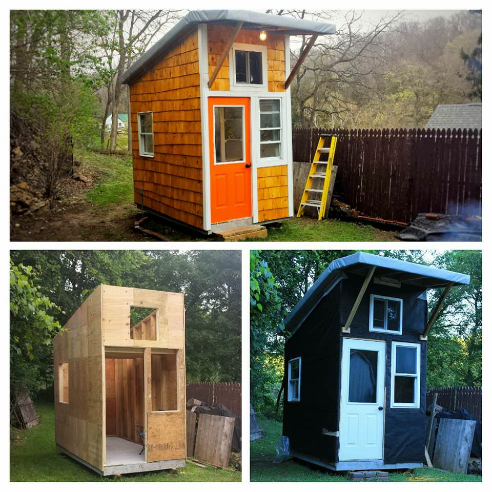 Groovy 13 Year Old Builds His Own Mini House In His Backyard Look Interior Design Ideas Inamawefileorg